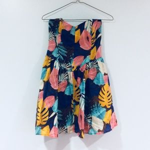 F21 Tropical Floral Print Fit & Flare Dress